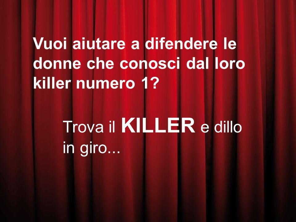 Vuoi aiutare a difendere le donne che conosci dal loro killer numero 1.