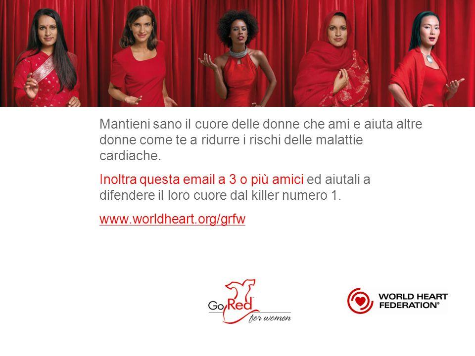 Mantieni sano il cuore delle donne che ami e aiuta altre donne come te a ridurre i rischi delle malattie cardiache.