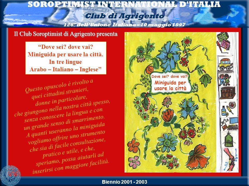 Biennio 2001 - 2003 Questo opuscolo è rivolto a quei cittadini stranieri, donne in particolare, che giungono nella nostra città spesso, senza conoscer