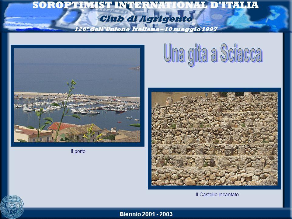 Biennio 2001 - 2003 SOROPTIMIST INTERNATIONAL D'ITALIA Club di Agrigento 126° dellUnione Italiana – 10 maggio 1997 Il Castello Incantato Il porto