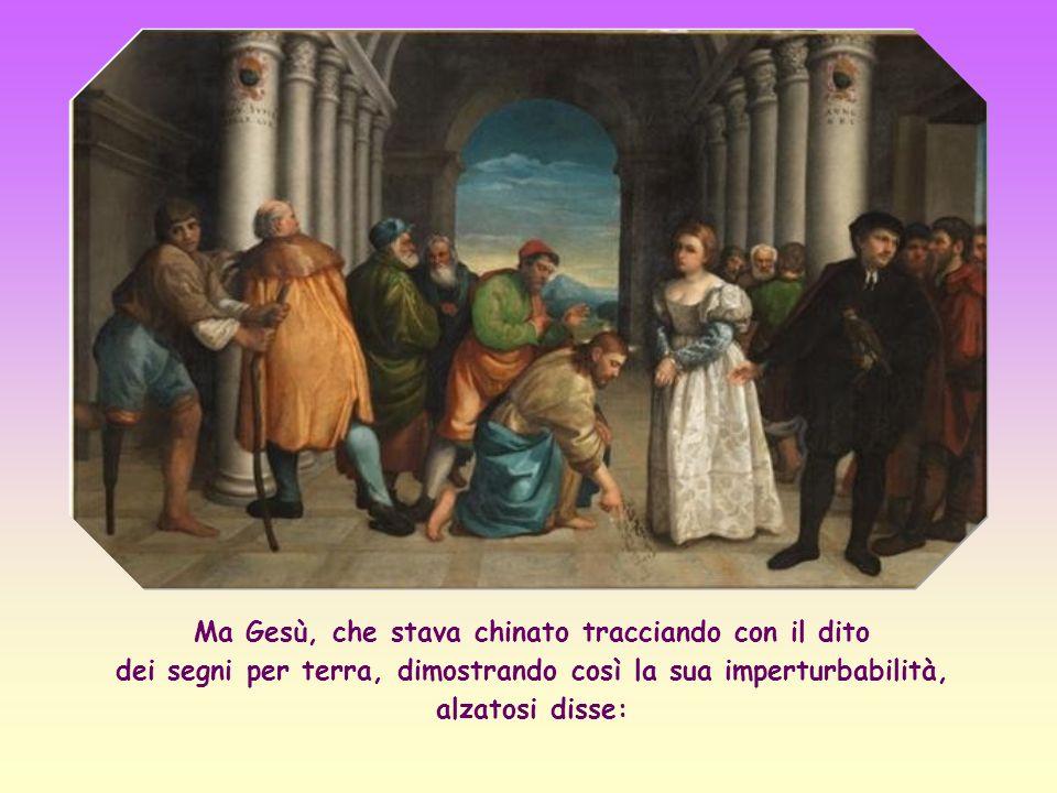 Se Gesù avesse invece confermato la sentenza di morte, l avrebbero fatto cadere in contraddizione con il suo insegnamento sulla misericordia di Dio verso i peccatori.