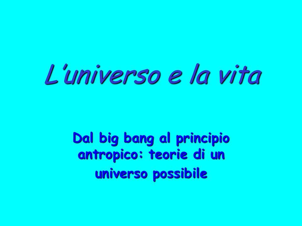 Luniverso e la vita Dal big bang al principio antropico: teorie di un universo possibile