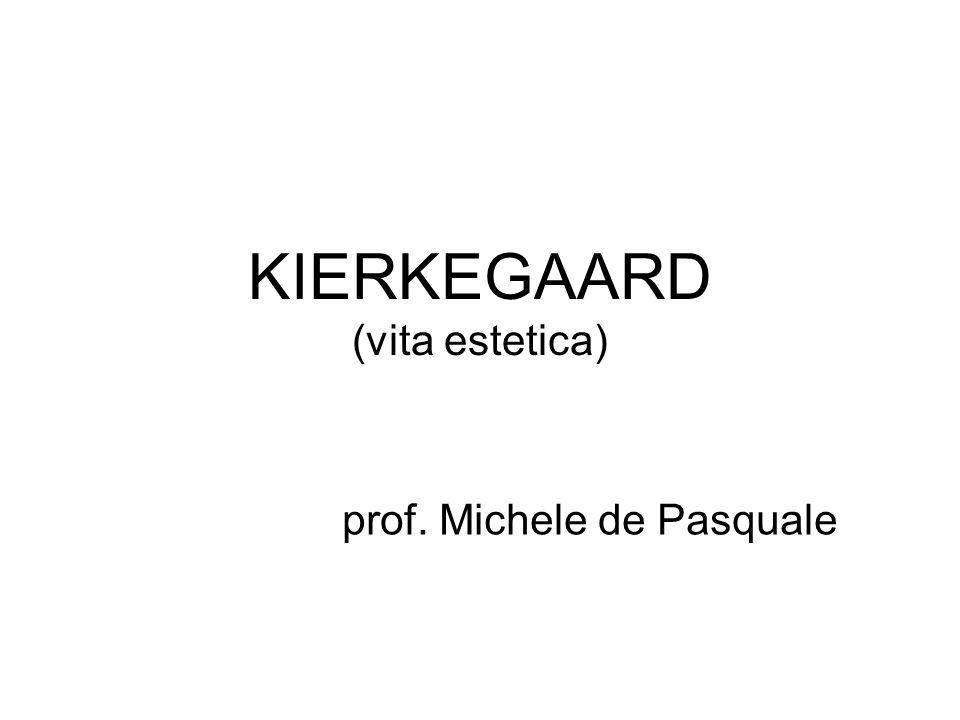 KIERKEGAARD (vita estetica) prof. Michele de Pasquale