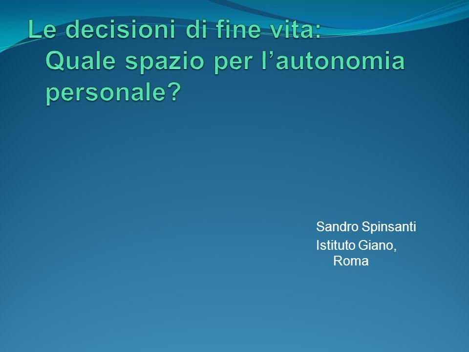 Sandro Spinsanti Istituto Giano, Roma