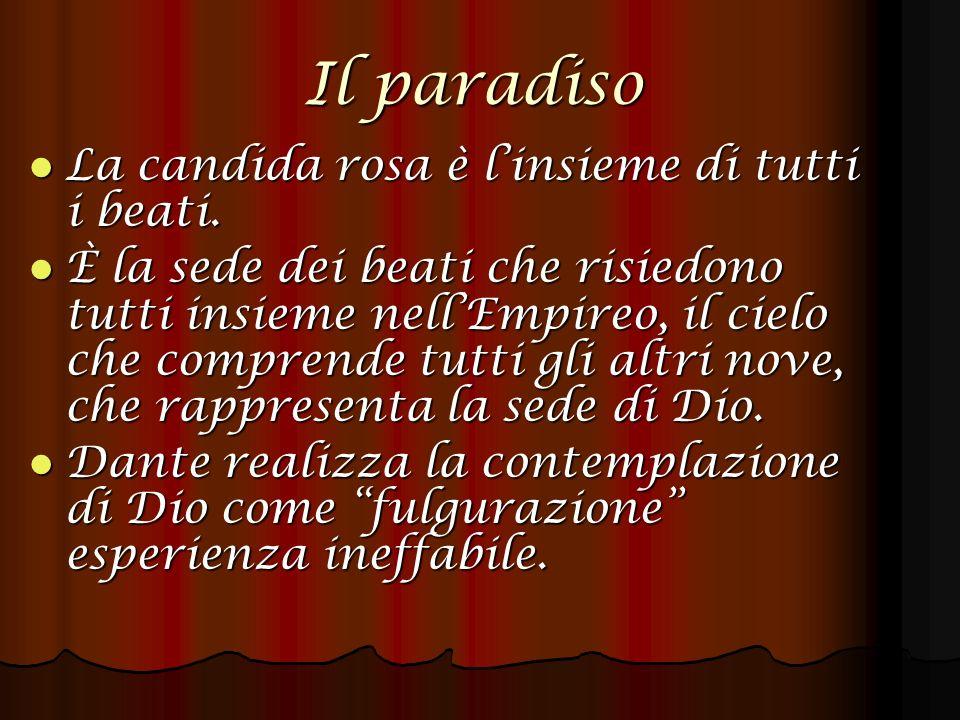 Il paradiso La candida rosa è linsieme di tutti i beati.