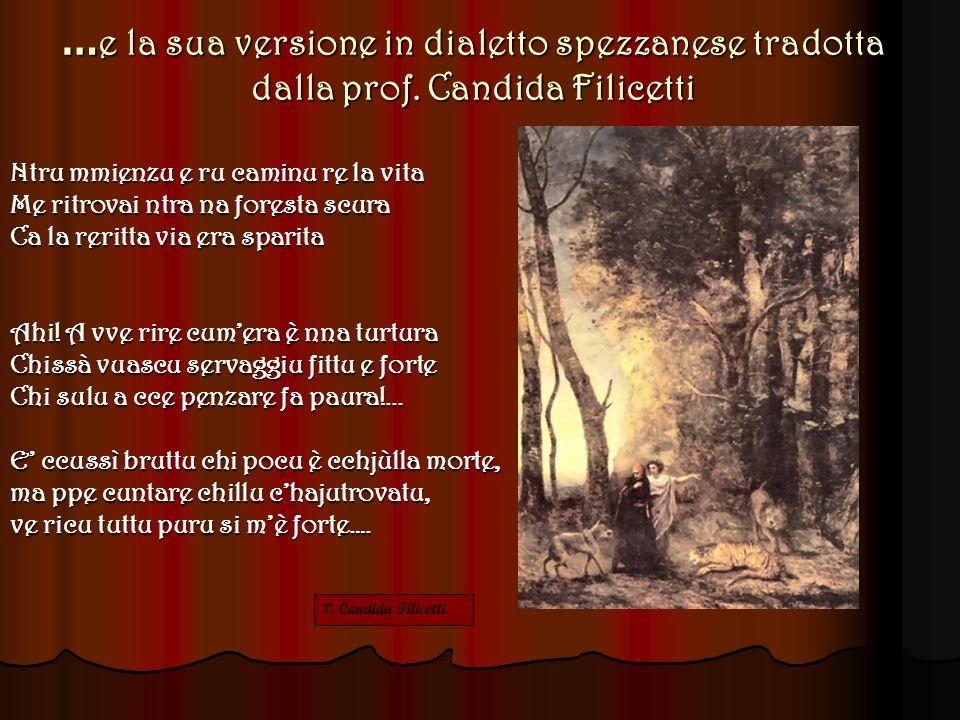 …e la sua versione in dialetto spezzanese tradotta dalla prof.