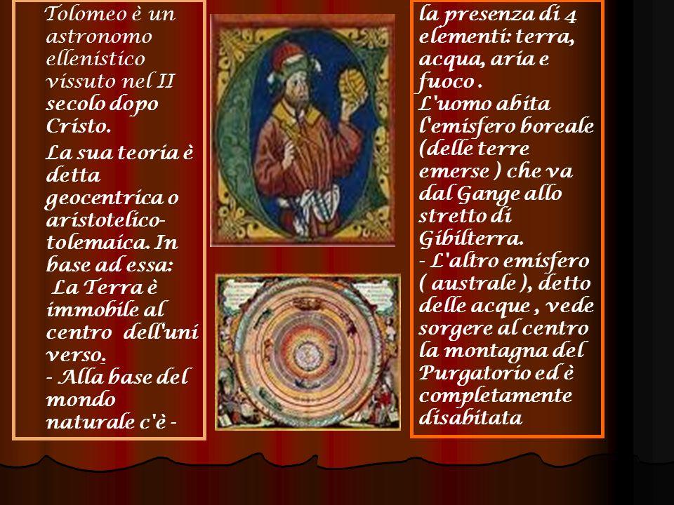 Tolomeo è un astronomo ellenistico vissuto nel II secolo dopo Cristo.