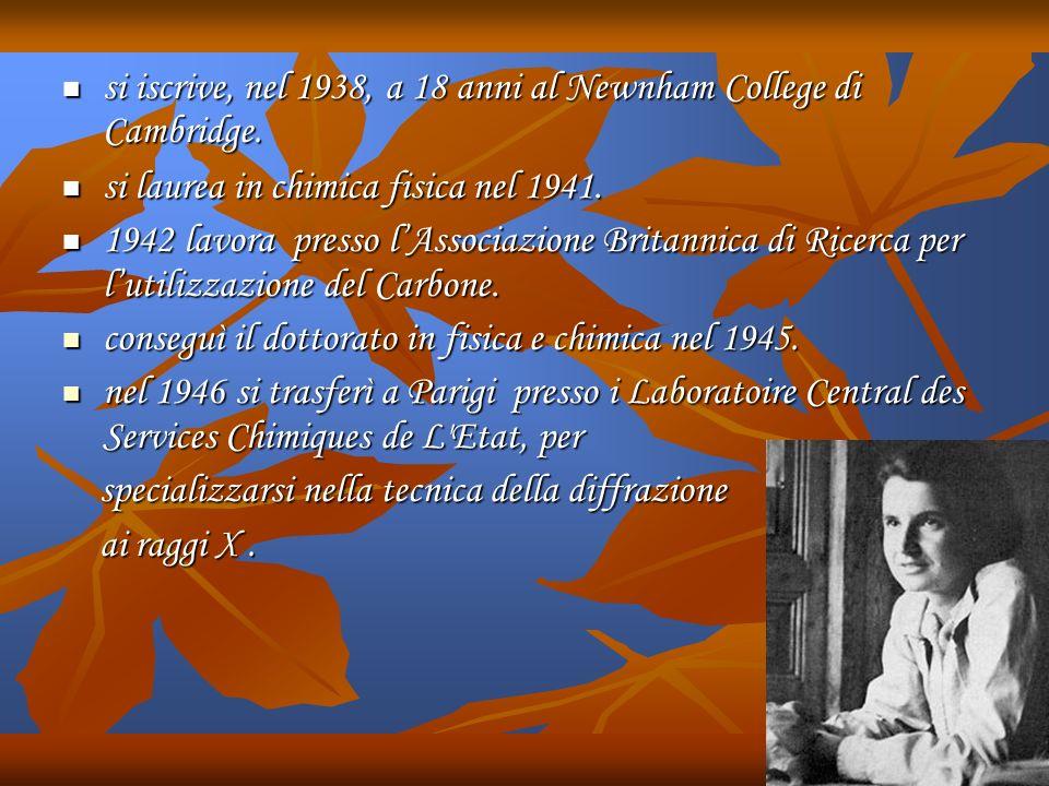 si iscrive, nel 1938, a 18 anni al Newnham College di Cambridge.