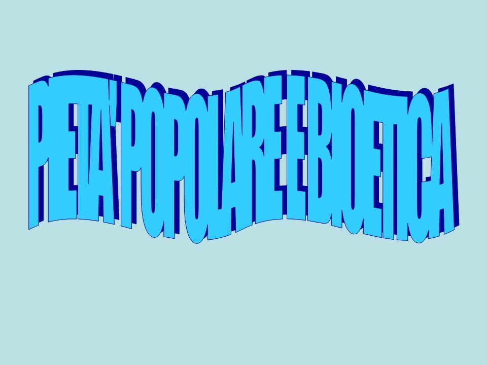 PIETÀ POPOLARE ED ETICA ECOLOGICA La salvezza cosmica e non solo antropologica, al cui servizio è posta la Chiesa, è anche il frutto dellopera santificatrice della Chiesa Sta proprio qui il significato delle benedizioni che la Chiesa ancora pronuncia su tutta la realtà: non solo sugli oggetti di pietà, ma ancora sulle case, sui greggi, le macchine, gli utensili, ecc.