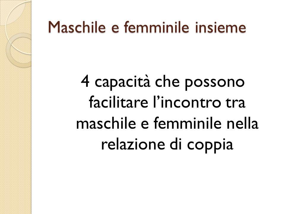 Maschile e femminile insieme 4 capacità che possono facilitare lincontro tra maschile e femminile nella relazione di coppia