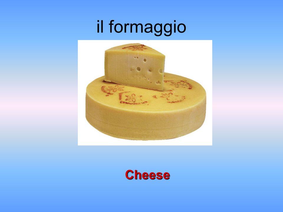 il formaggio Cheese