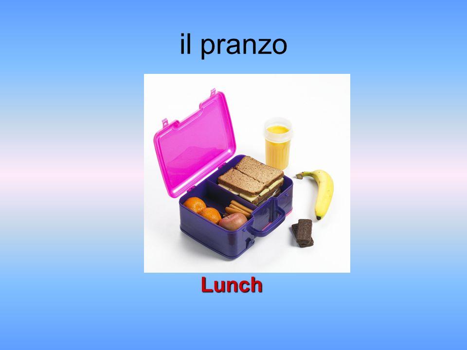 il pranzo Lunch