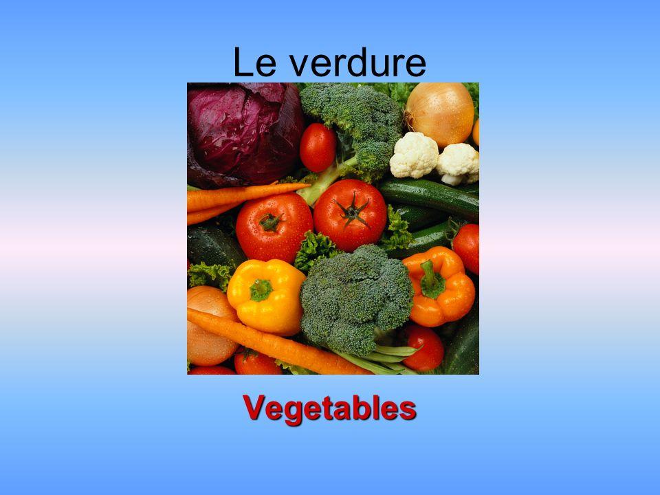 Le verdure Vegetables
