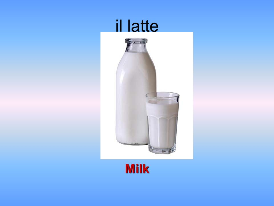 il latte Milk