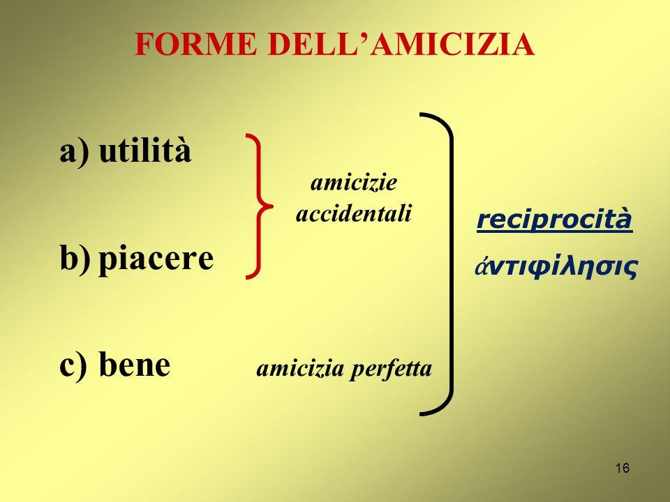 AMICIZIA E GIUSTIZIA AMICIZIA ( φιλία) struttura antropologica originaria e fondante (momento affettivo) GIUSTIZIA ( δικαιοσύνη) a) razionalizzazione