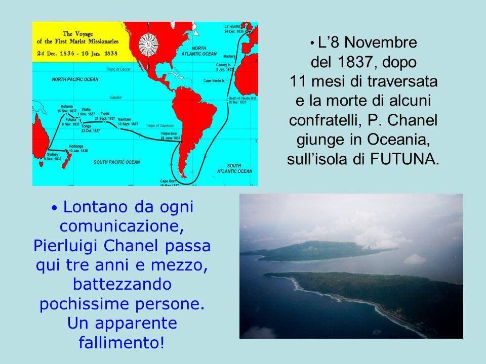 Il 28 Aprile del 1841 la testimonianza di amore verso il Signore e verso gli abitanti di Futuna, raggiunge il suo grado massimo: