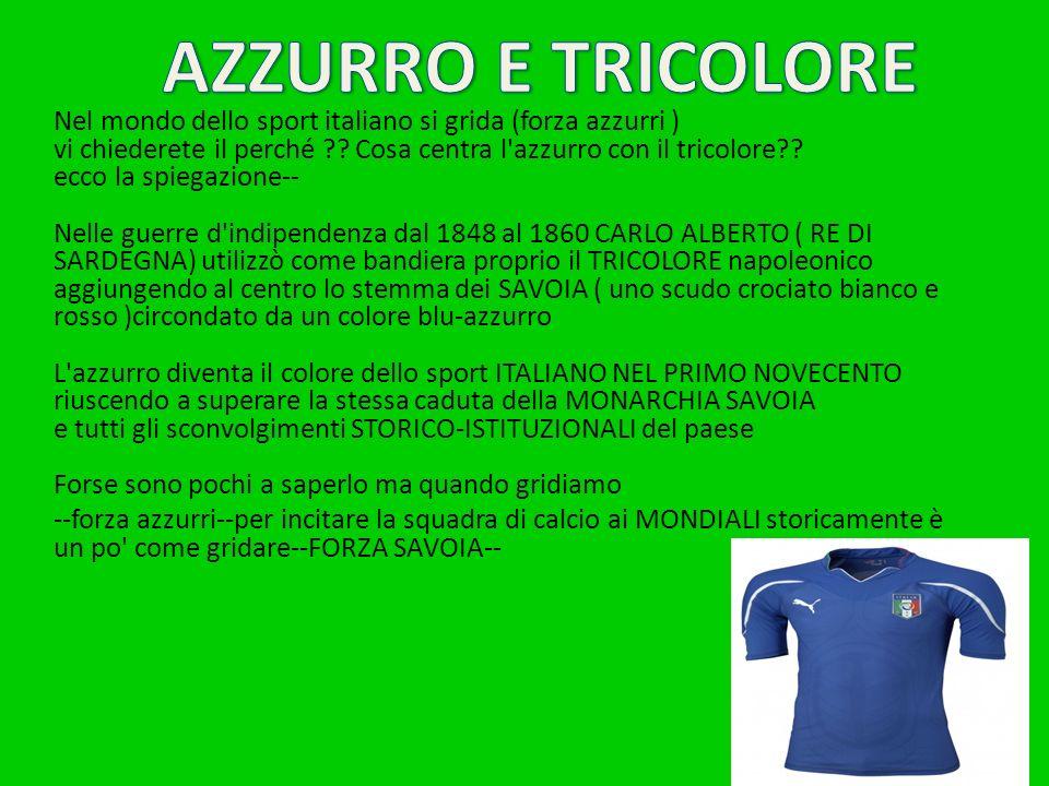 Nel mondo dello sport italiano si grida (forza azzurri ) vi chiederete il perché ?.