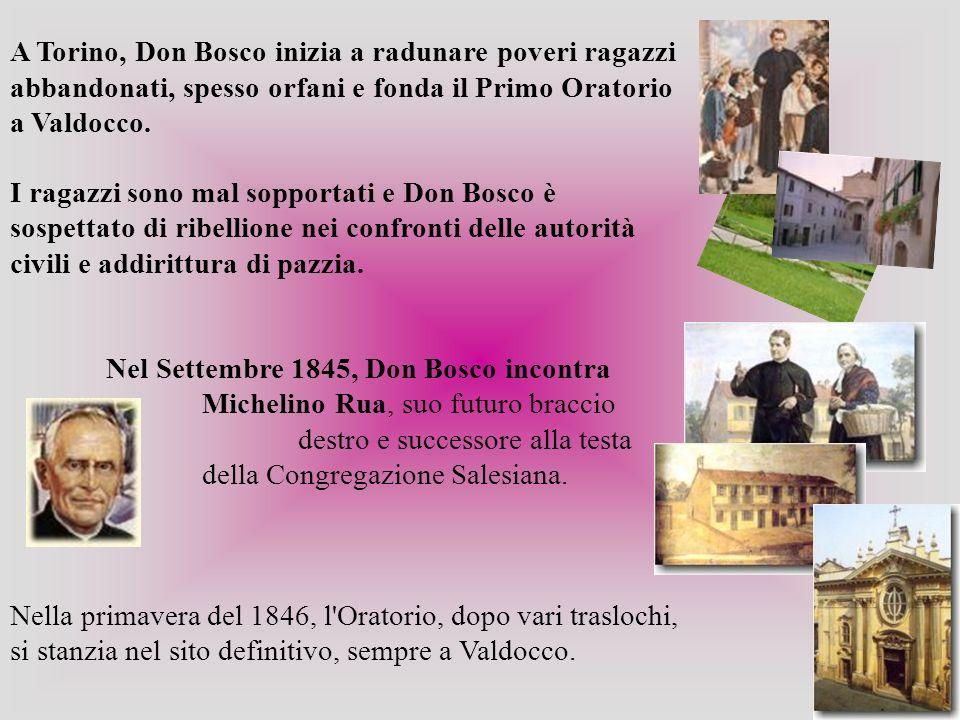 Suggerì a Don Bosco di chiamare la sua congregazione Società, disse che erano necessari i voti, ma che fossero semplici, consigliò un modo di vestire e pratiche di pietà semplici, gli ordinò di scrivere le sue memorie, gli diede molte dimostrazioni di affetto e gli elargì anche aiuti materiali.