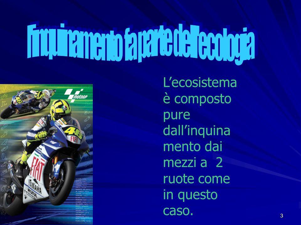3 Lecosistema è composto pure dallinquina mento dai mezzi a 2 ruote come in questo caso.