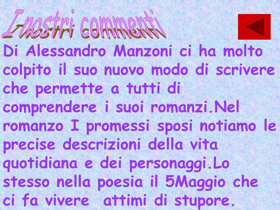 Frutto di una lunghissima elaborazione i Promessi sposi sono il capolavoro di Manzoni é lopera più importante del romanticismo italiano. Quello del Ma