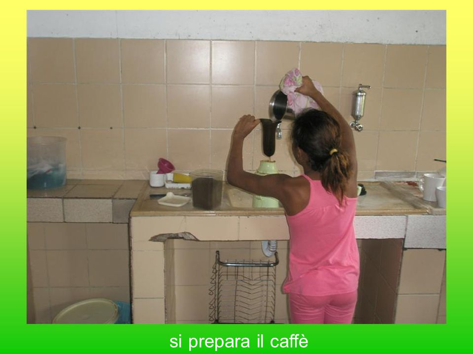 si prepara il caffè