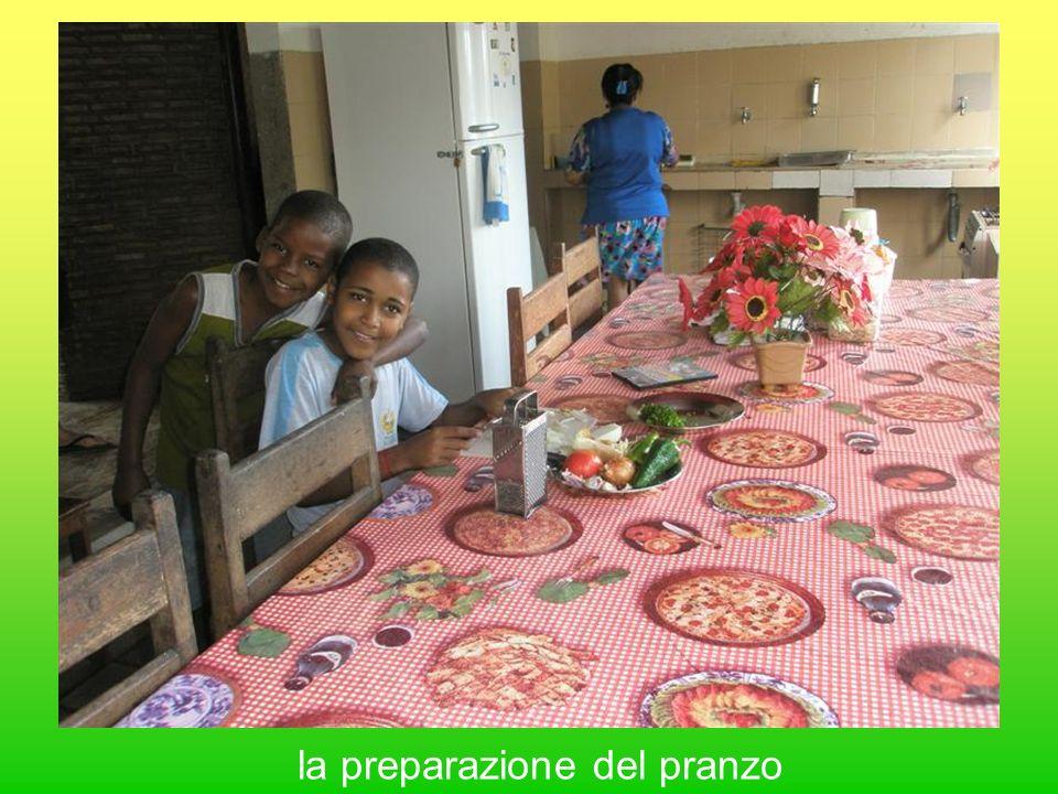 la preparazione del pranzo