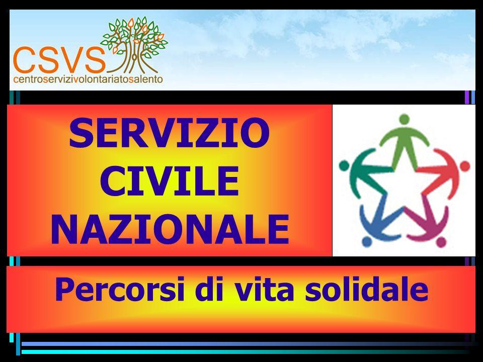SERVIZIO CIVILE NAZIONALE Percorsi di vita solidale