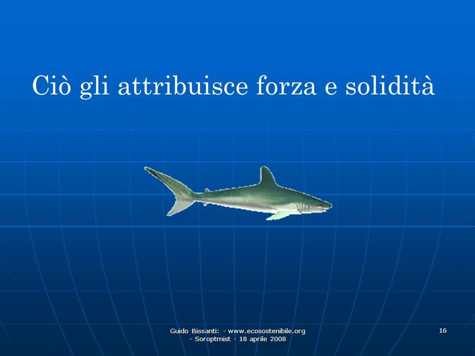 Guido Bissanti: - www.ecosostenibile.org - Soroptmist - 18 aprile 2008 16 Ciò gli attribuisce forza e solidità