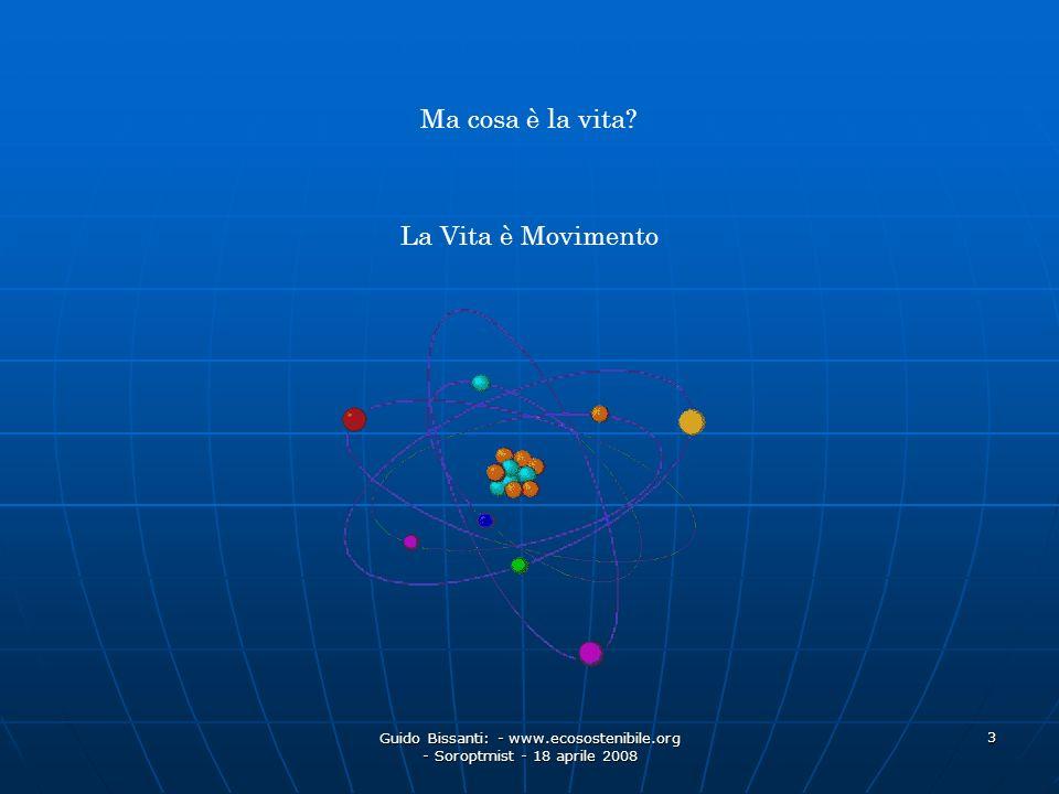 Guido Bissanti: - www.ecosostenibile.org - Soroptmist - 18 aprile 2008 3 Ma cosa è la vita? La Vita è Movimento