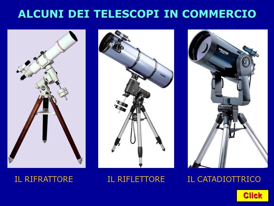 Click ALCUNI DEI TELESCOPI IN COMMERCIO IL RIFRATTOREIL RIFLETTOREIL CATADIOTTRICO