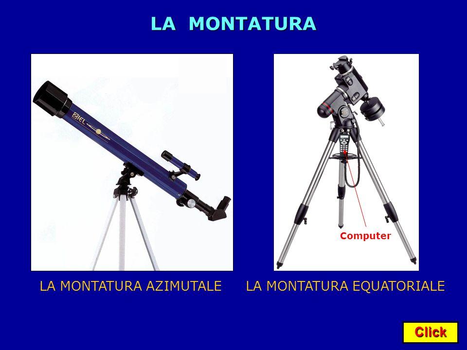 Click LA MONTATURA LA MONTATURA AZIMUTALELA MONTATURA EQUATORIALE Computer