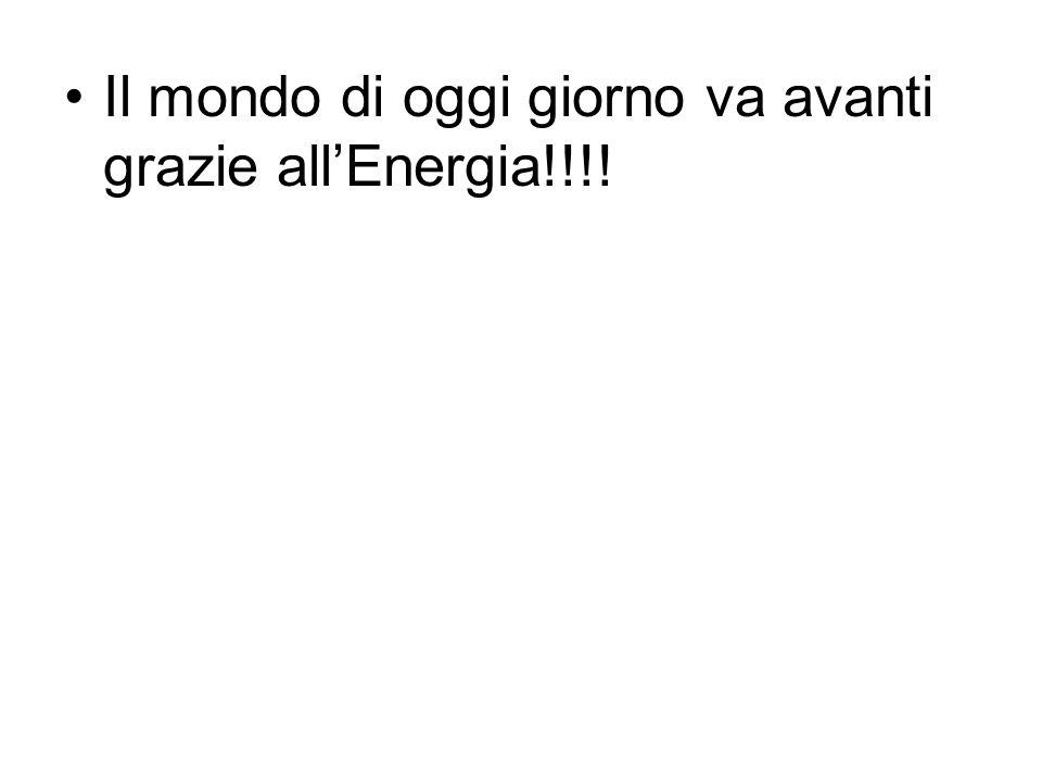 Il mondo di oggi giorno va avanti grazie allEnergia!!!!