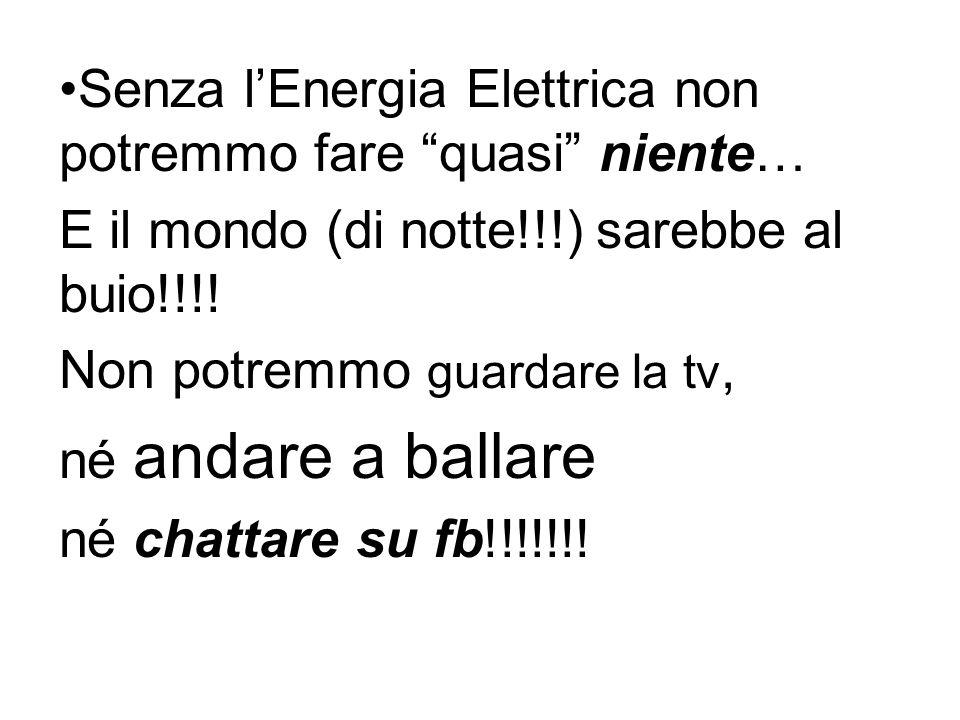 Senza lEnergia Elettrica non potremmo fare quasi niente… E il mondo (di notte!!!) sarebbe al buio!!!.