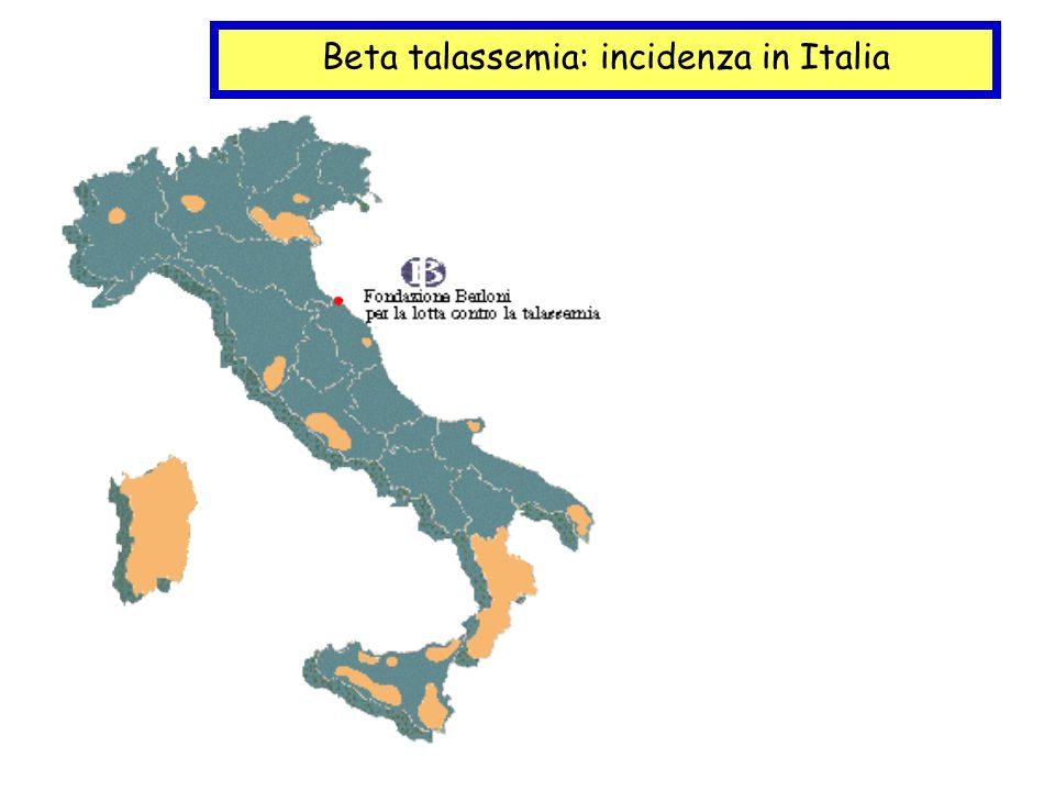 Beta talassemia: incidenza in Italia