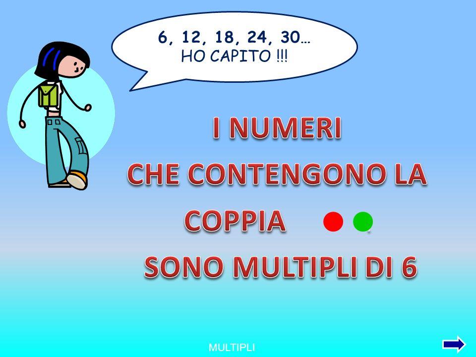 MULTIPLI 6, 12, 18, 24, 30… HO CAPITO !!!