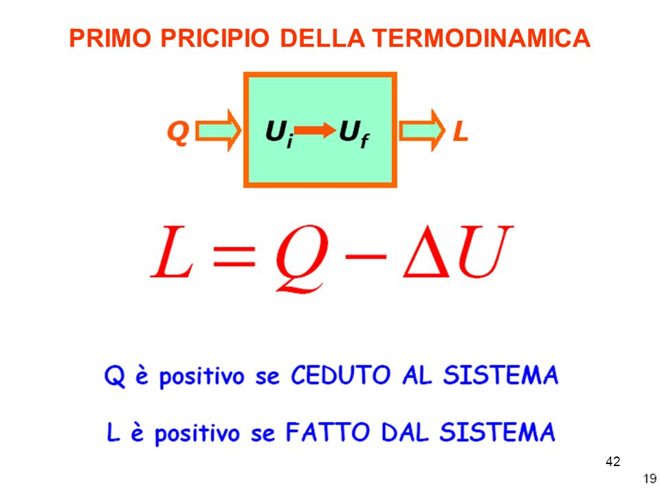PRIMO PRICIPIO DELLA TERMODINAMICA 42