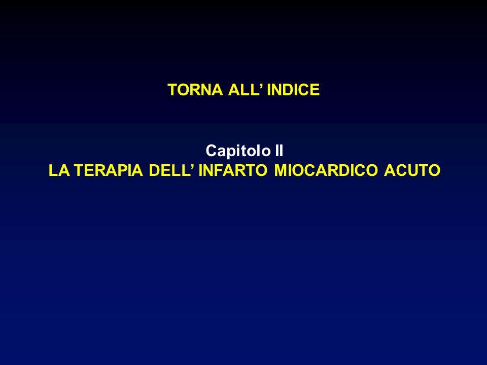 Capitolo II LA TERAPIA DELL INFARTO MIOCARDICO ACUTO TORNA ALL INDICE