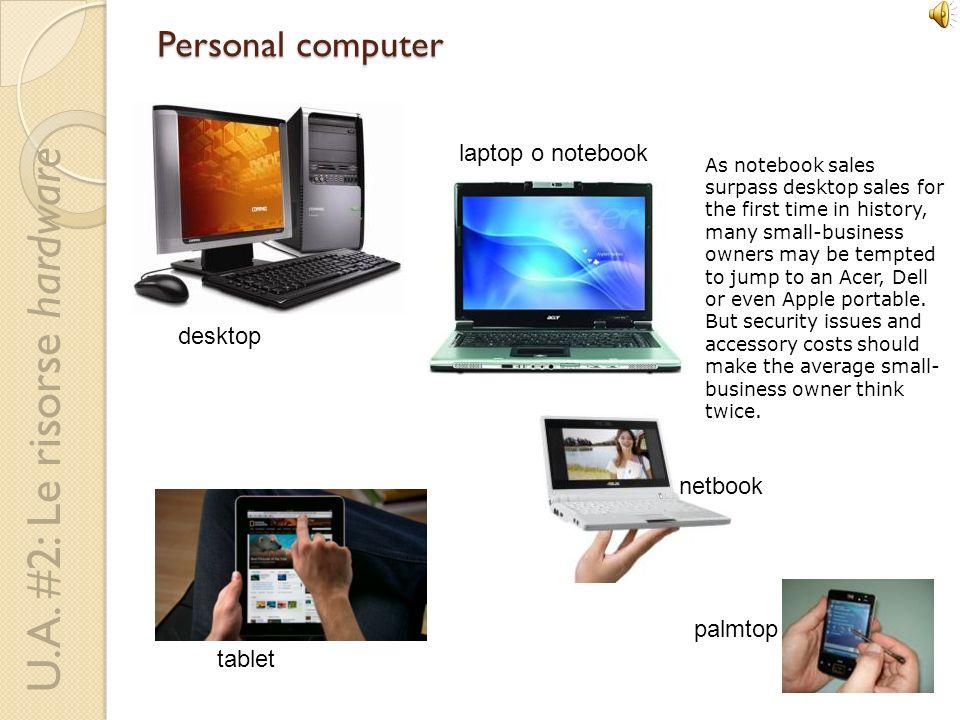 U.A. #2: Le risorse hardware Componenti del PC clock, registri