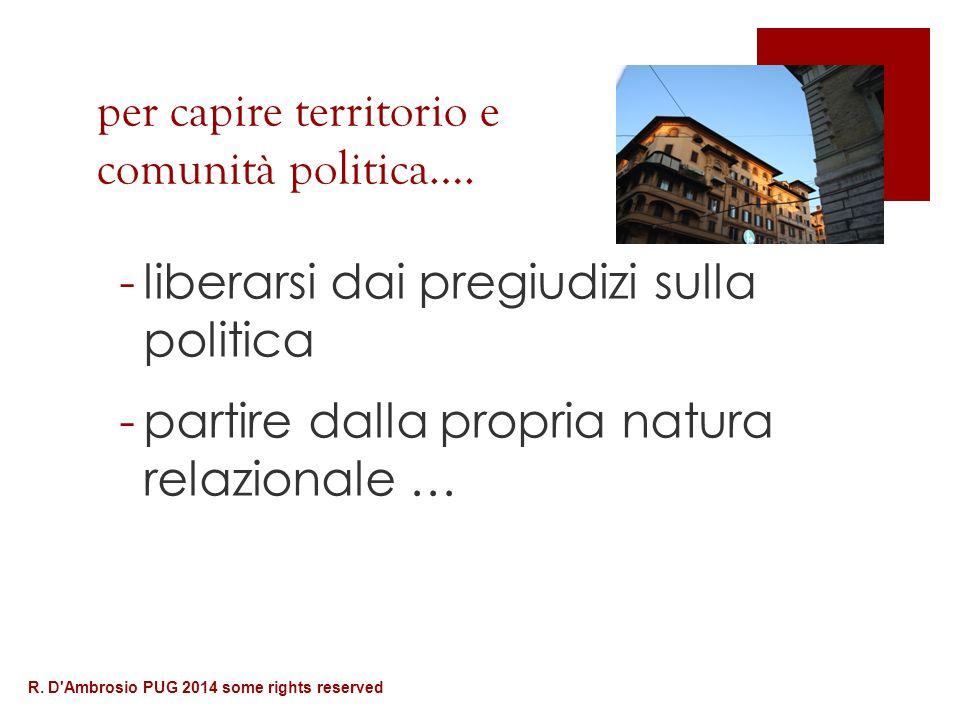 per capire territorio e comunità politica….