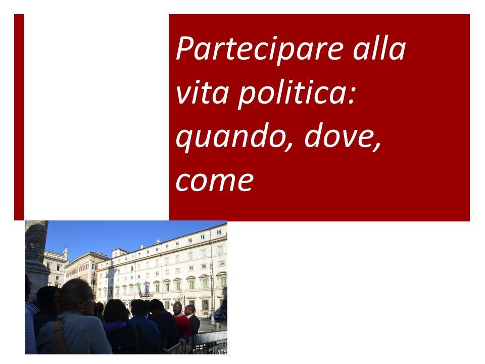 Partecipare alla vita politica: quando, dove, come