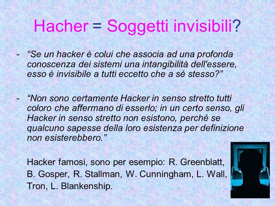 Hacher = Soggetti invisibili.