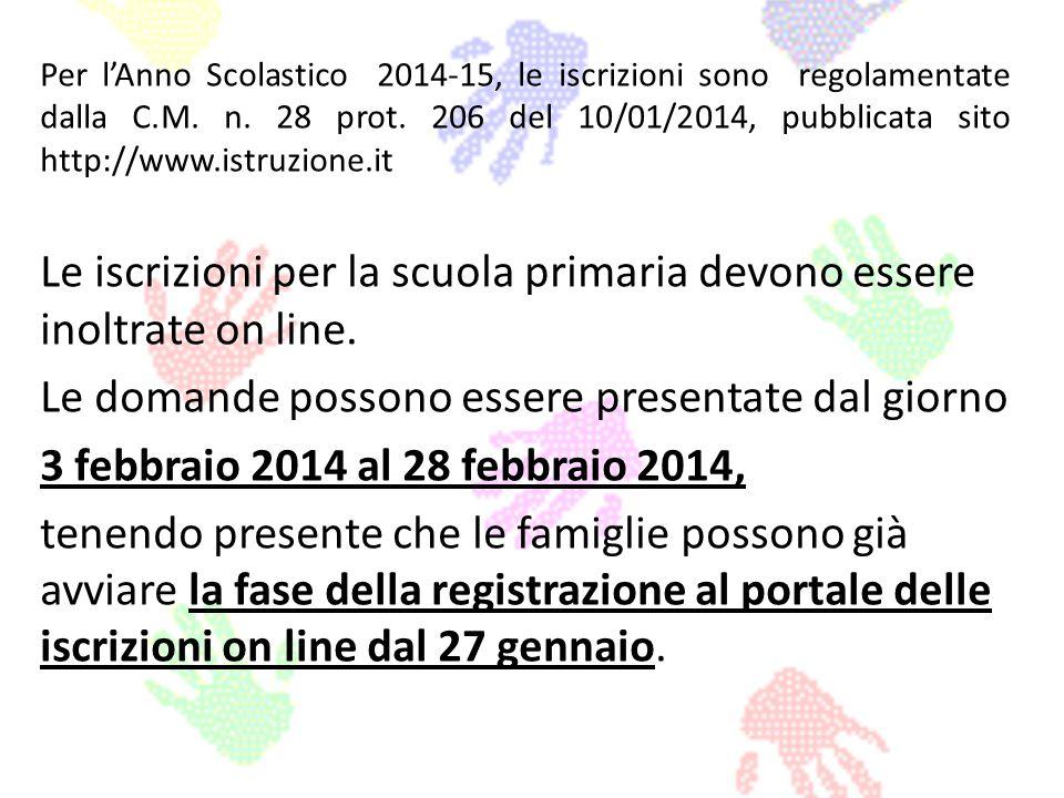 Per lAnno Scolastico 2014-15, le iscrizioni sono regolamentate dalla C.M. n. 28 prot. 206 del 10/01/2014, pubblicata sito http://www.istruzione.it Le