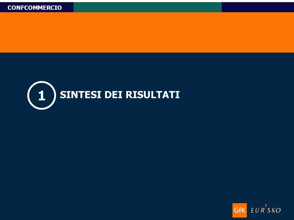 Titolo-Tahoma bold 11pt, Name-Tahoma italic 10pt Custom Research CONFCOMMERCIO SINTESI DEI RISULTATI 1