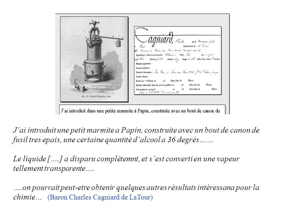 Gli esperimenti che hanno portato alla scoperta del punto critico furono messi a punto da Denis Papin in Inghilterra nel 1680. Papin progettò un reatt