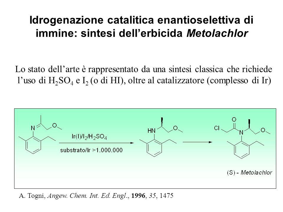 APPLICAZIONI IN CATALISI IMMOBILIZZAZIONE DEL CATALIZZATORE Combinare un contatto intimo dei reagenti e del catalizzatore durante la reazione ma con i