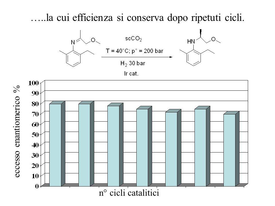 La stessa reazione in CO 2 supercritica (scCO 2 ) è un esempio di un nuovo processo scCO 2 H2H2 H2H2 H2H2 Immina Ammina H2H2 ImminaAmmina Estrazione =