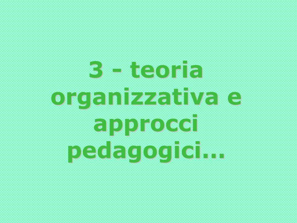 3 - teoria organizzativa e approcci pedagogici...