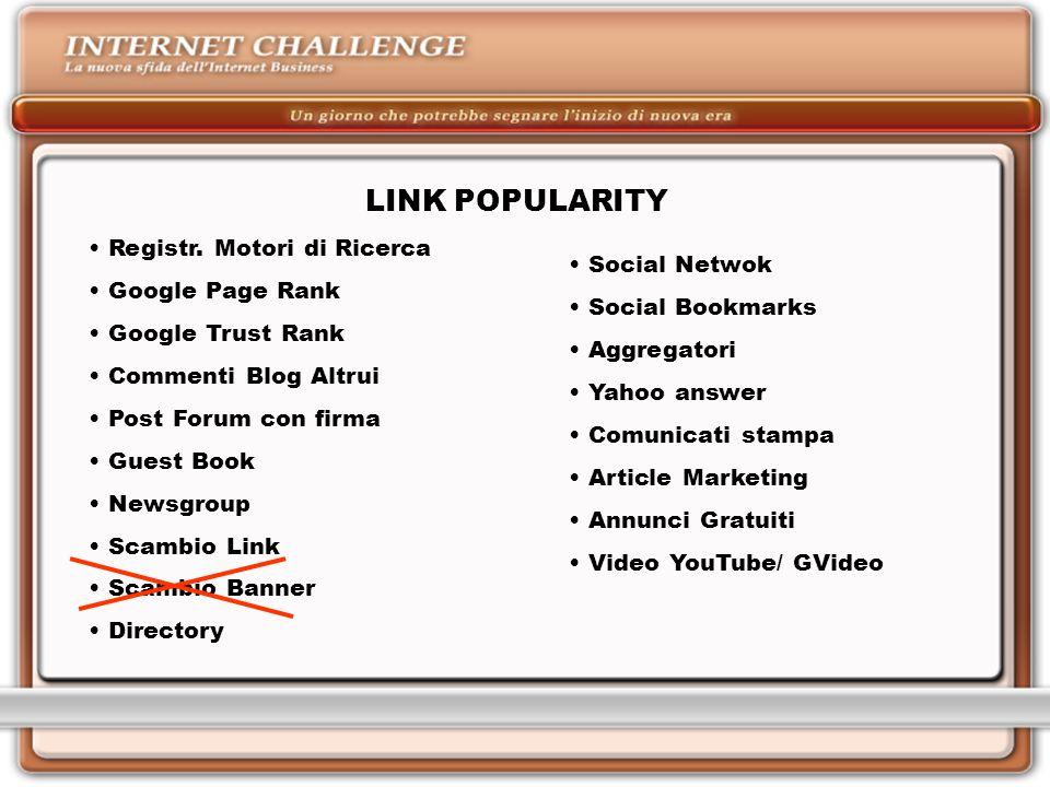 LINK POPULARITY Registr.