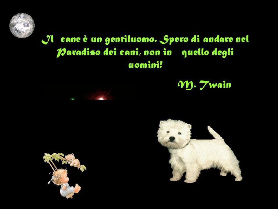 Il cane è un gentiluomo.Spero di andare nel Paradiso dei cani, non in quello degli uomini.