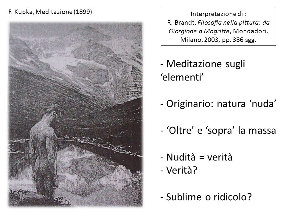 F.Kupka, Meditazione (1899) Interpretazione di : R.